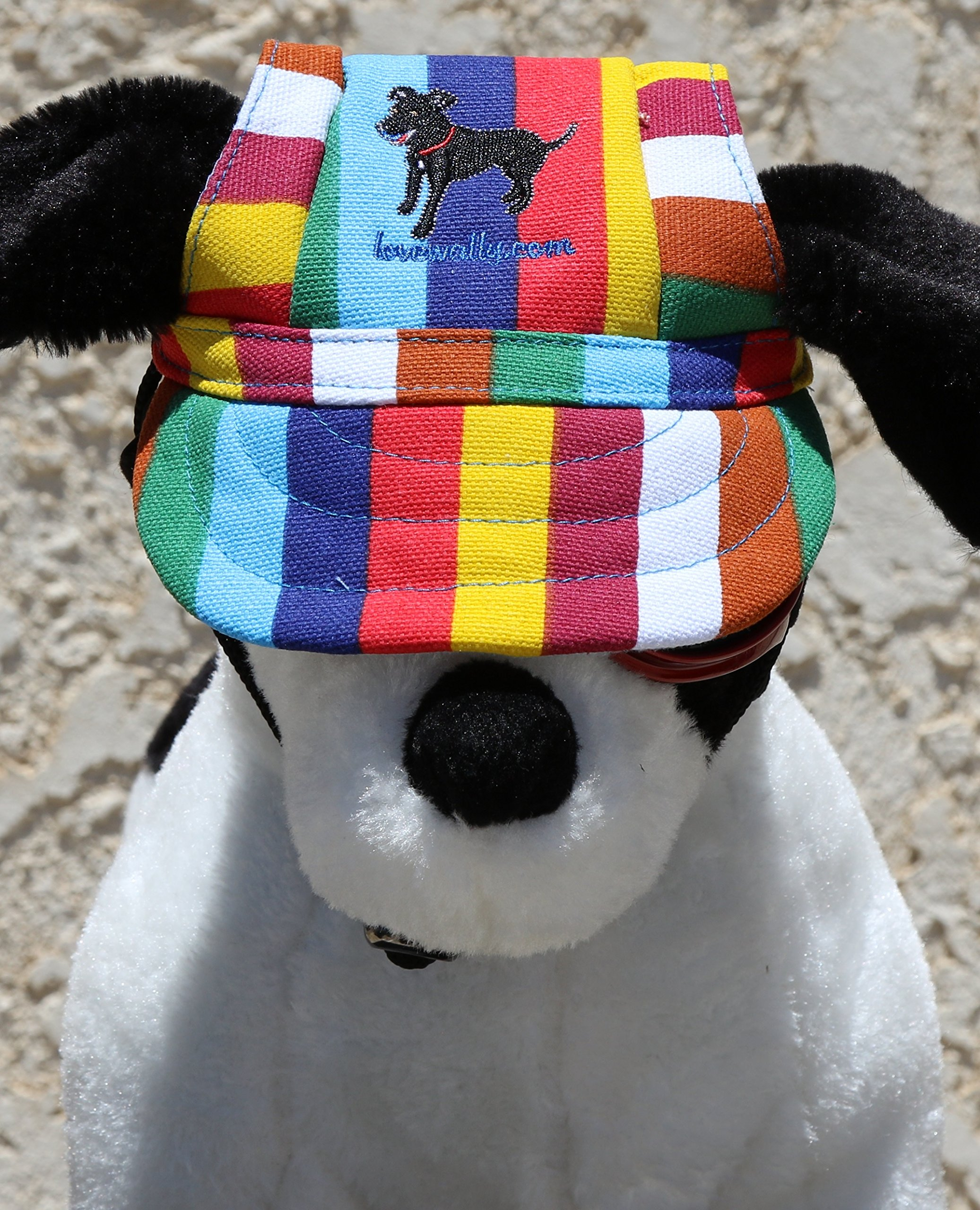 LoveWally Dog Outdoor PET Hat Rainbow ♦ Adjustable Authentic (Large) by LoveWally (Image #6)