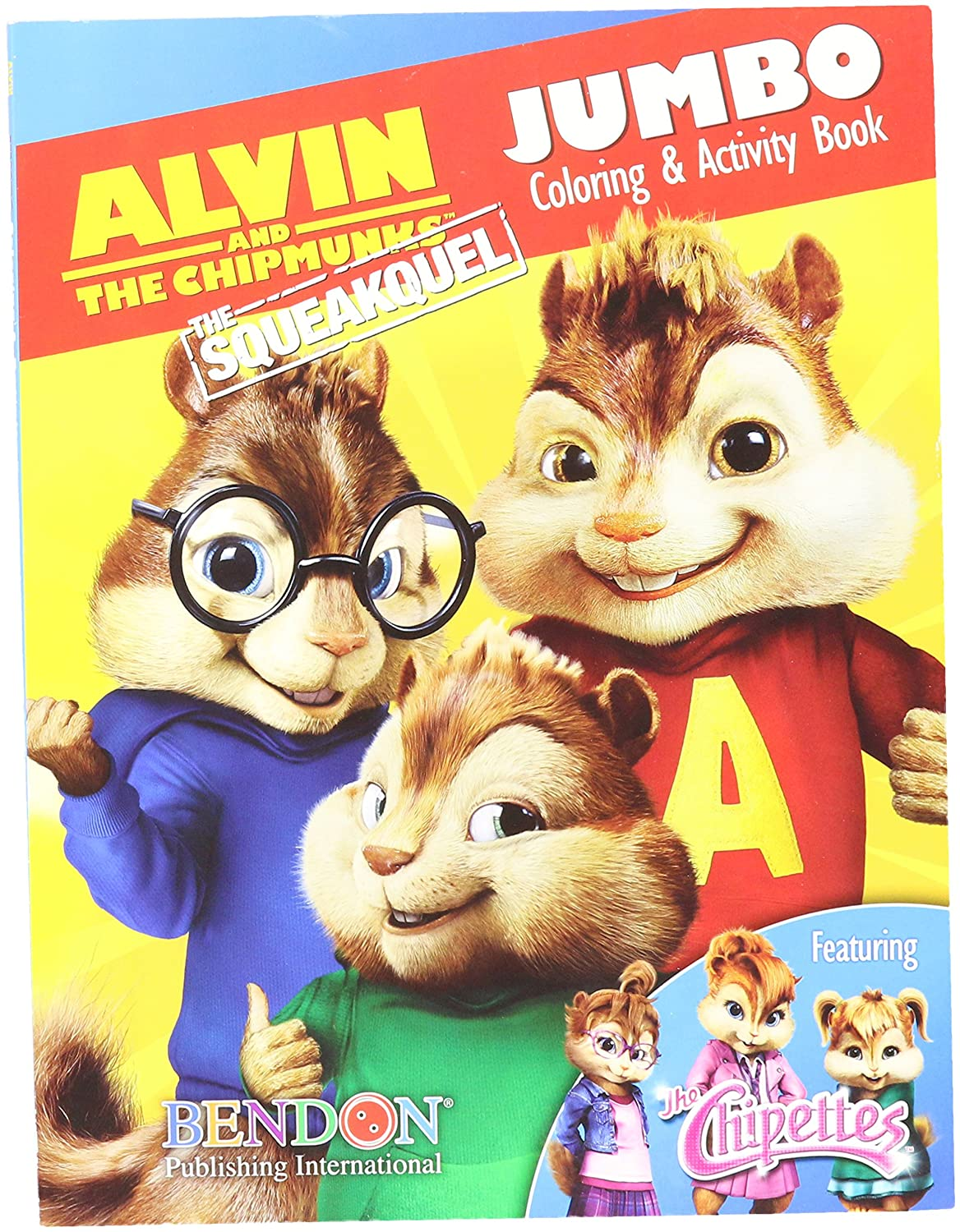 amazon com alvin u0026 the chipmunks jumbo coloring u0026 activity book