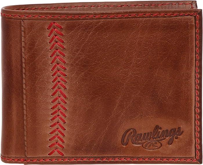 Rawlings Baseball Stitch Leather Bifold Wallet