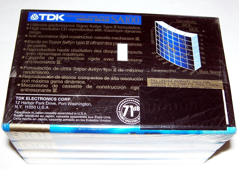 Amazon.com: TDK SA100-4 100-Minute High Bias IECII/Type II Blank Audio Cassette (4-Pack): Home Audio & Theater