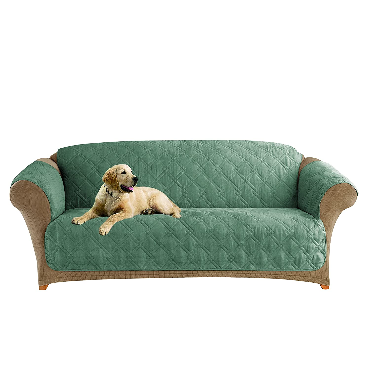 Amazon Sure Fit Microfiber Pet Sofa Slipcover Sea Glass