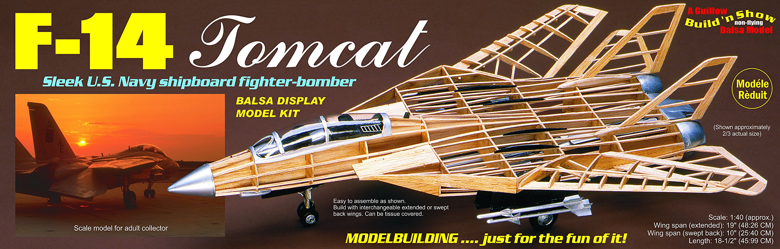 Guillow's F-14 Tomcat Model Kit by Guillow