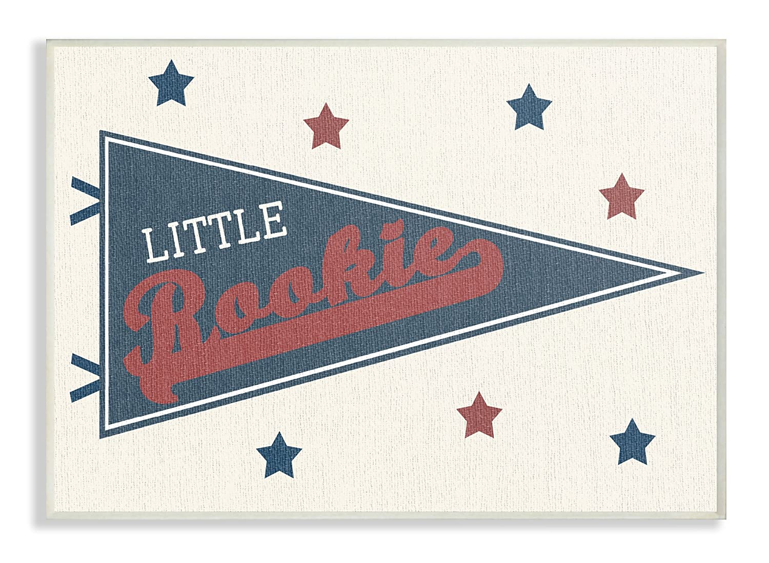 12.5 x 0.5 x 18.5 The Kids Room By Stupell Little Rookie Pennant Oversized Wall Plaque Art Proudly Made in USA Stupell Industries brp-2082/_wd/_13x19