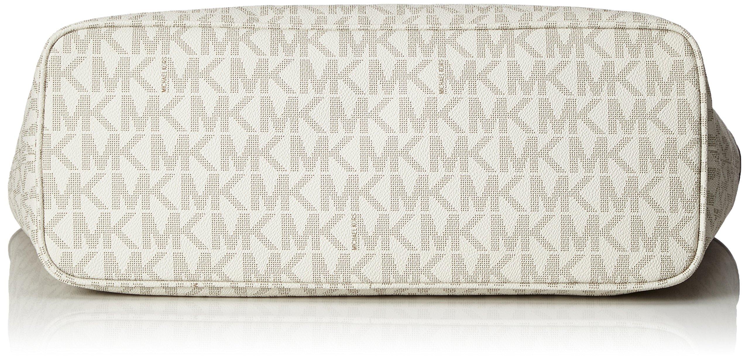 MICHAEL Michael Kors Jet Set Travel Medium Top Zip Multifunction Tote (Vanilla) by Michael Kors (Image #4)