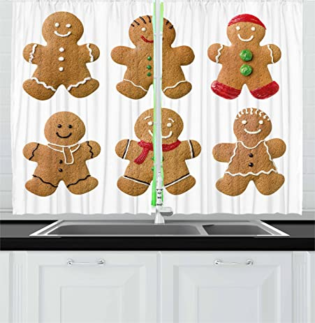 Gingerbread Kitchen Curtains Amazing Inspiration