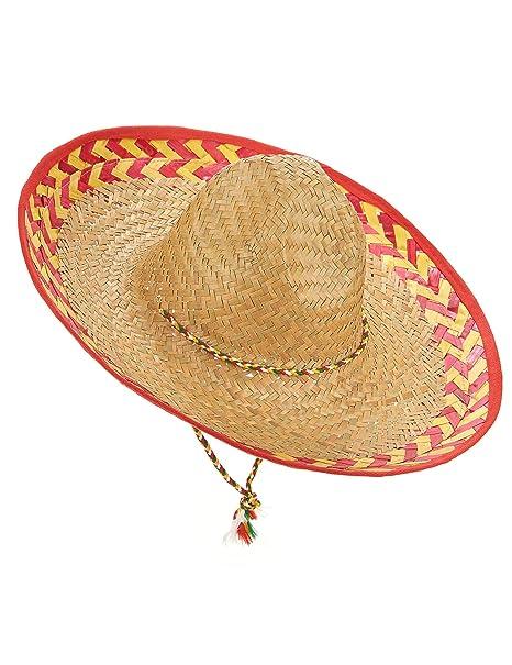 f2fb41a7da8c7 Sombrero mexicano adulto paja  Amazon.es  Juguetes y juegos