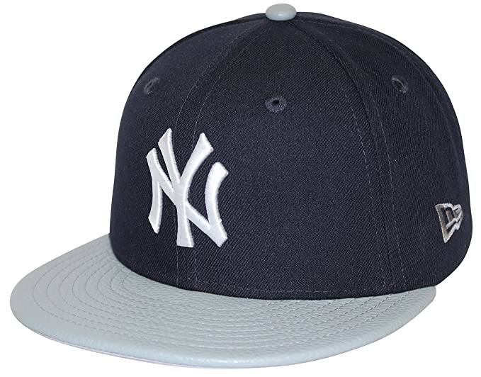 4ce1cc7fa24ae New Era 59Fifty Pebble Vize New York Yankees Navy Gray Fitted Cap at ...