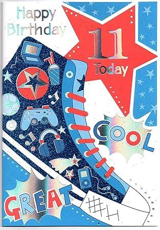Birthday Card Eleven 11 Year Old Boy