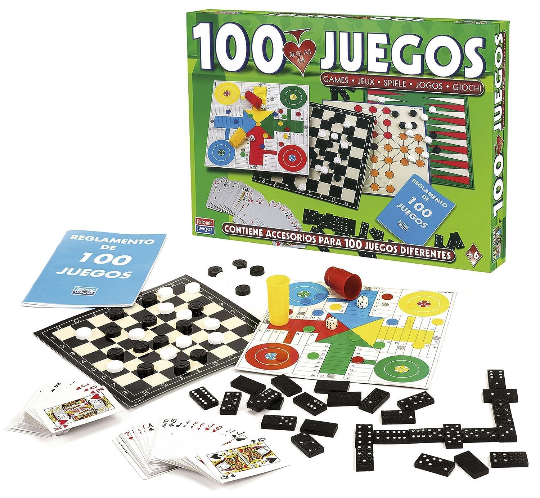 Falomir Reunidos 100 Juegos 32 1308 Amazon Es Juguetes Y Juegos