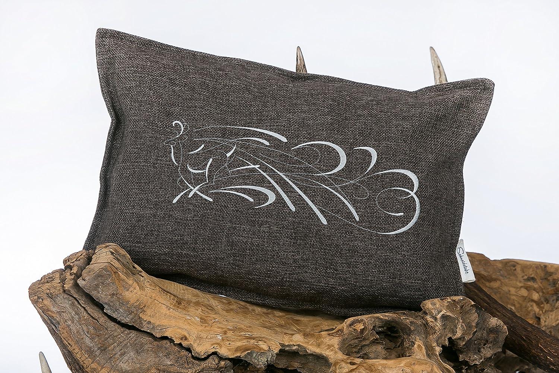 Funda de cojín bordado con diseño de ciervo marrón: Amazon ...