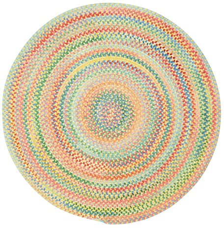 Marvelous Capel Rugs Babyu0027s Breath Round Braided Chair Pad, 15u0026quot;, ...