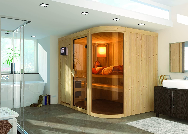 Karibu Sauna inkl 9-kW-Bioofen Parima 4