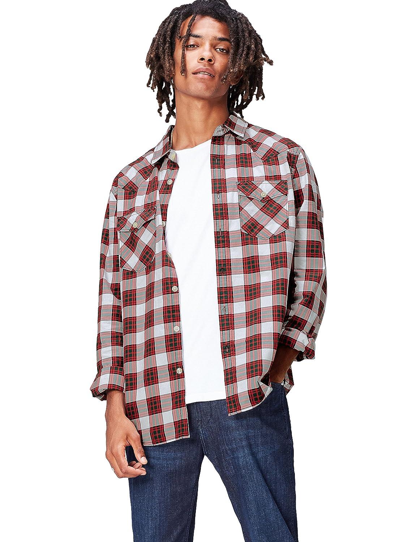 FIND Camicia in Cotone a Quadri Uomo AZM7014