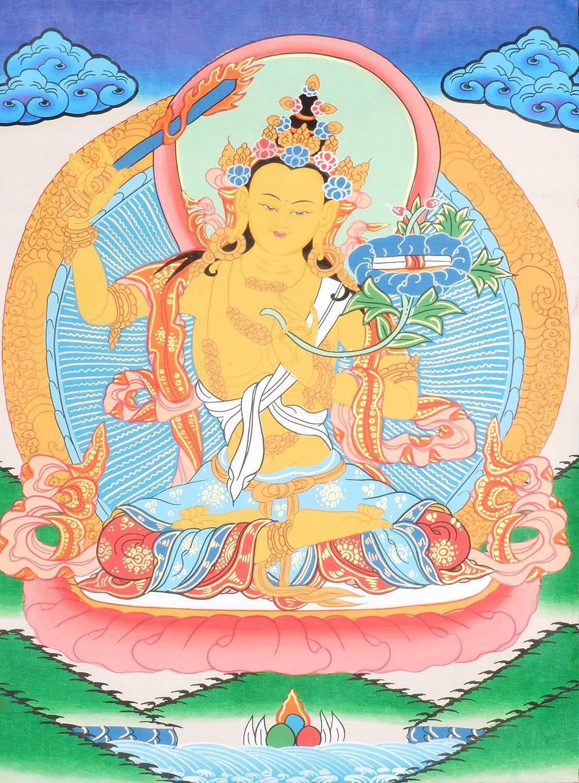 Amazon.com: Manjushri -Tibetan Buddhist Deity - Tibetan Thangka ...