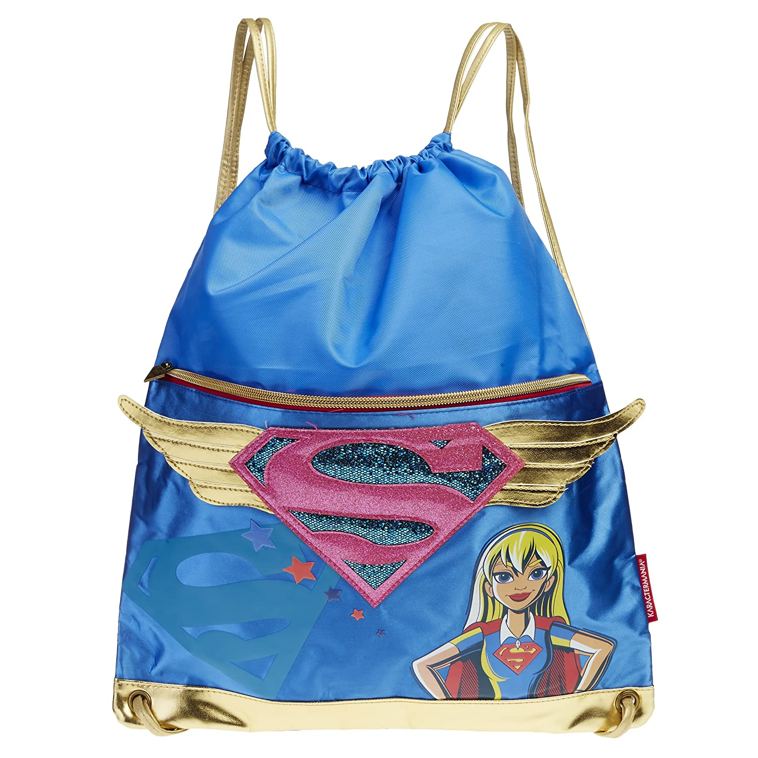 Karactermania 93919 DC Super Hero Girls Sacca, 41 cm, Blu