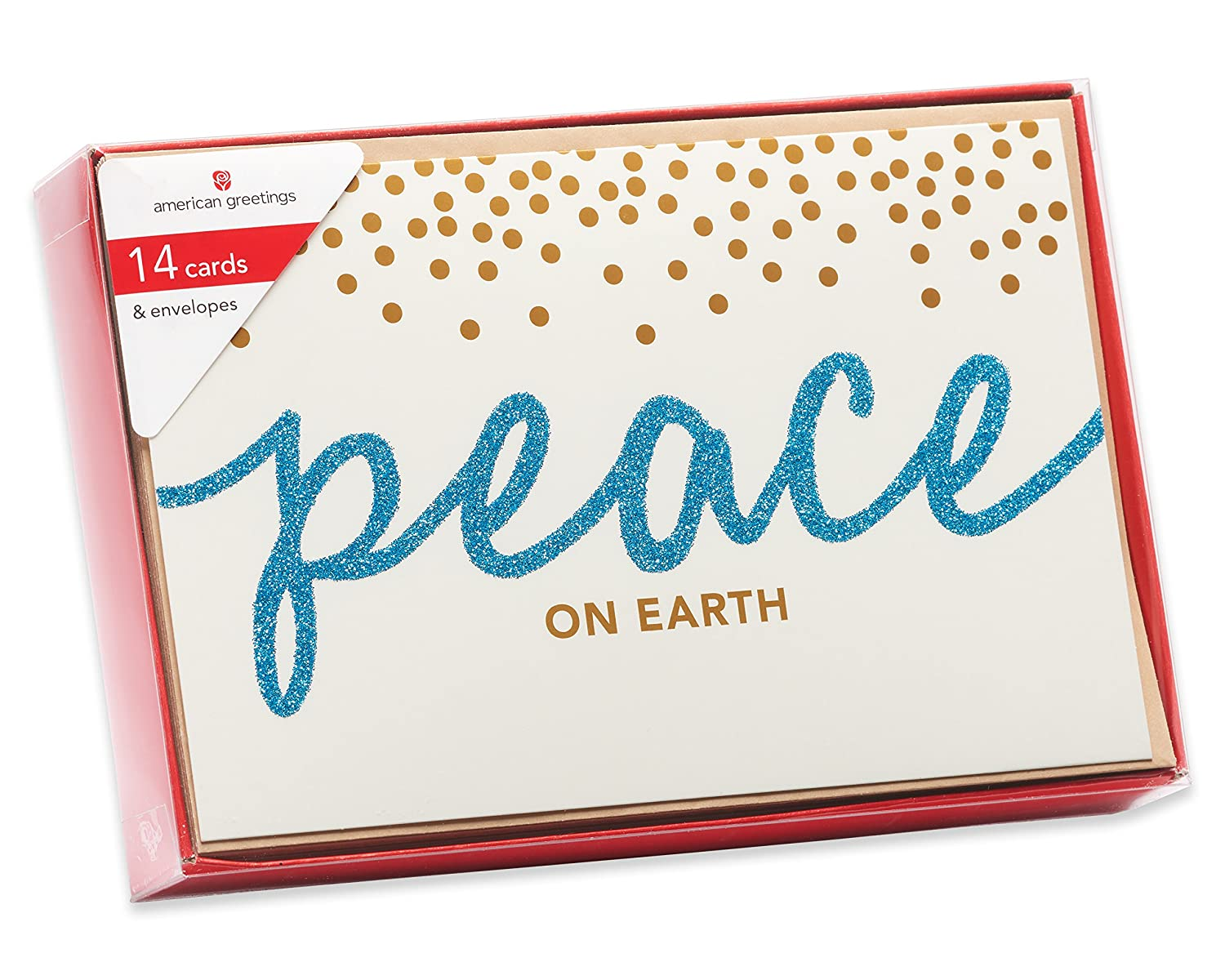 Amazon american greetings 5772316 peace on earth christmas amazon american greetings 5772316 peace on earth christmas boxed cards multicolor kitchen dining kristyandbryce Choice Image