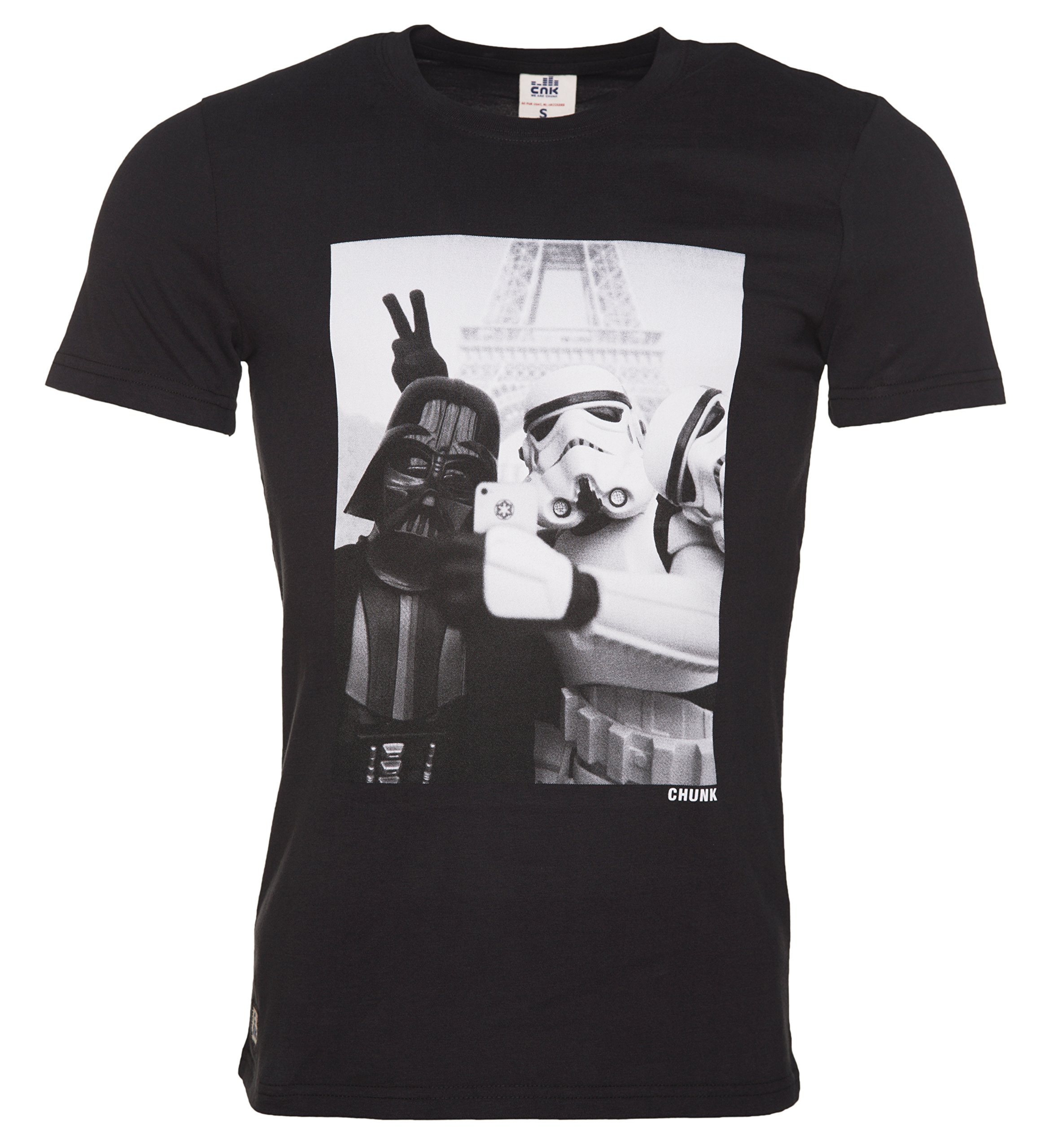 Chunk S Black Stormtrooper And Darth Vader Selfie Star Wars T Shirt From