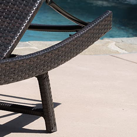 Amazon.com: Eliana Outdoor sillas de mimbre Chaise Longue ...