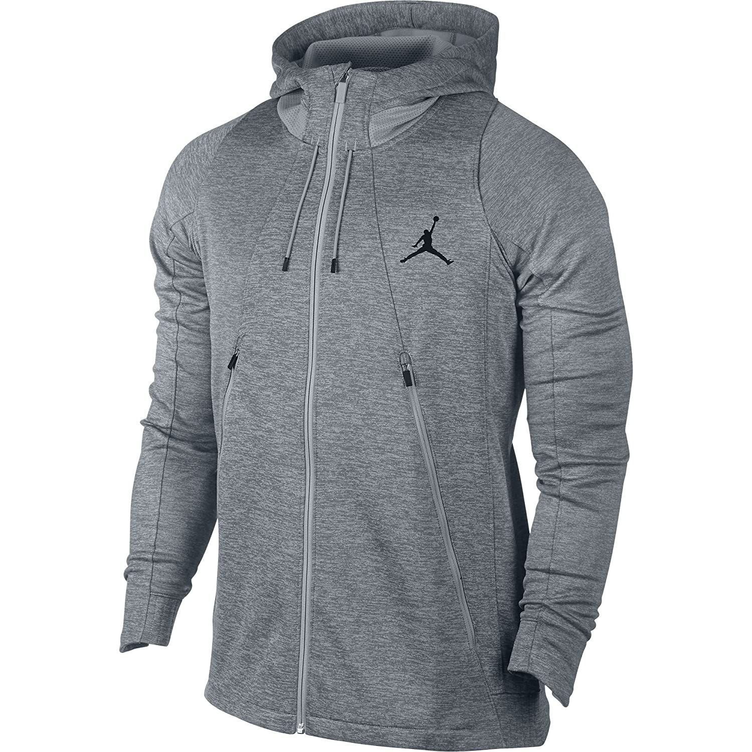 17ba2ba4cc1875 Jordan Flight Fleece Full-Zip Men s Hoodie Athletic Grey Grey 688525-012  (Size L)  Amazon.co.uk  Sports   Outdoors