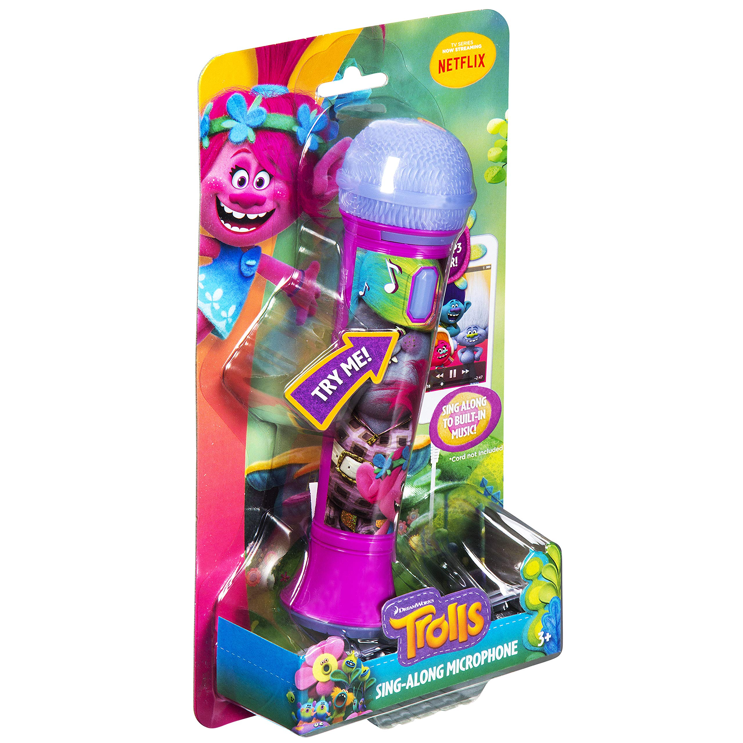 Trolls Sing Along MP3 Microphone Sing to Built in Music or Connect Your Audio Device and Sing to Whatever You Like by eKids (Image #7)