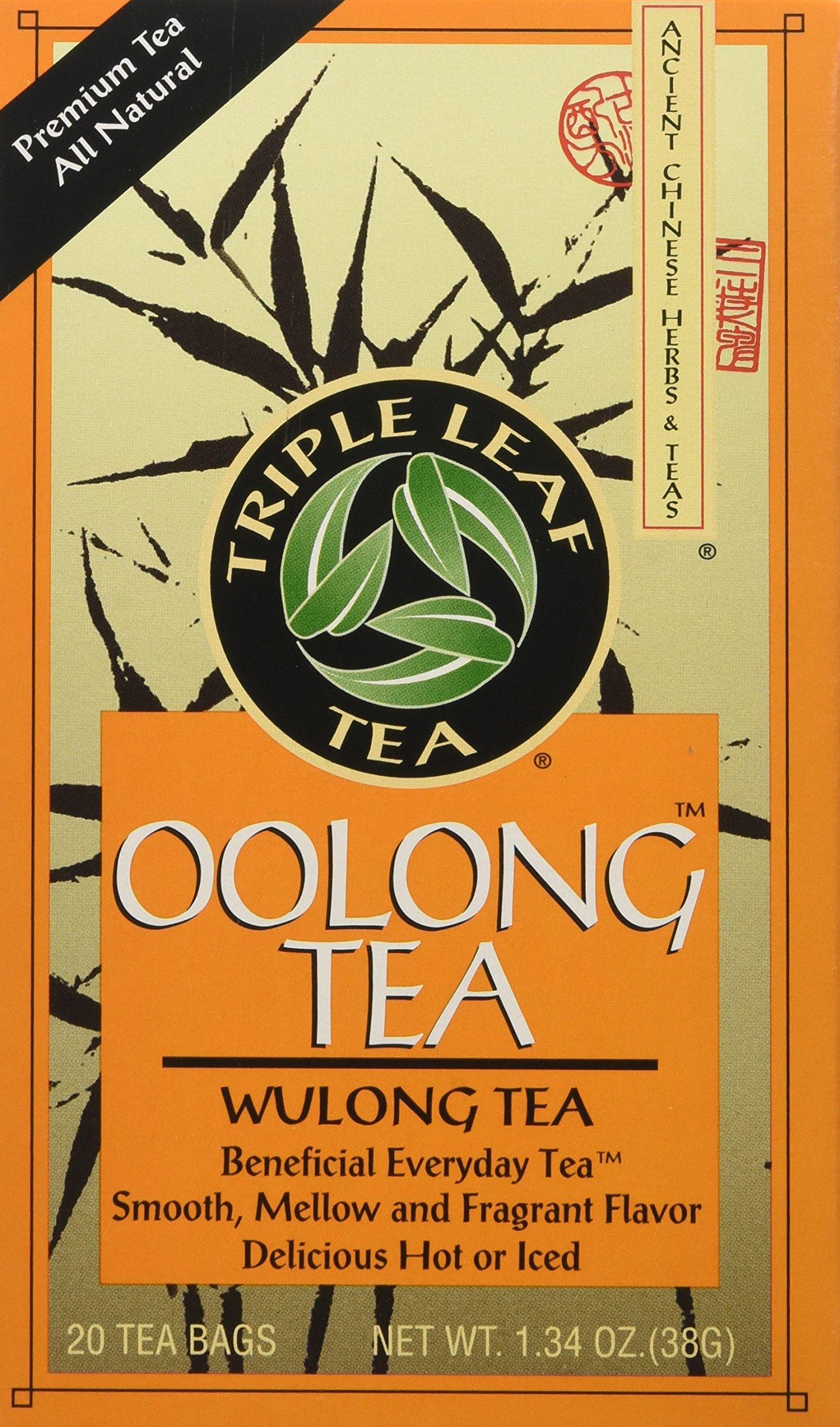 Triple Leaf Tea, Inc Tea, Oolong, 20-Count (Pack of 6)