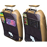 Backseat Car Organizer, Kick Mats Car Back Seat Protector with Tablet Holder Storage Pockets for Toys Book Kids Baby…