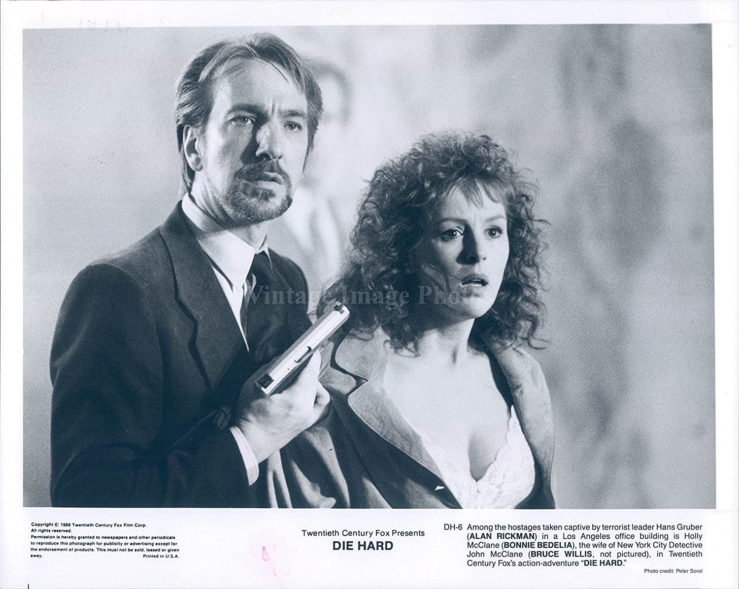 Photo Alan Rickman Actor Bonnie Bedelia Actress Die Hard Movie Vintage:  Amazon.co.uk: Kitchen & Home