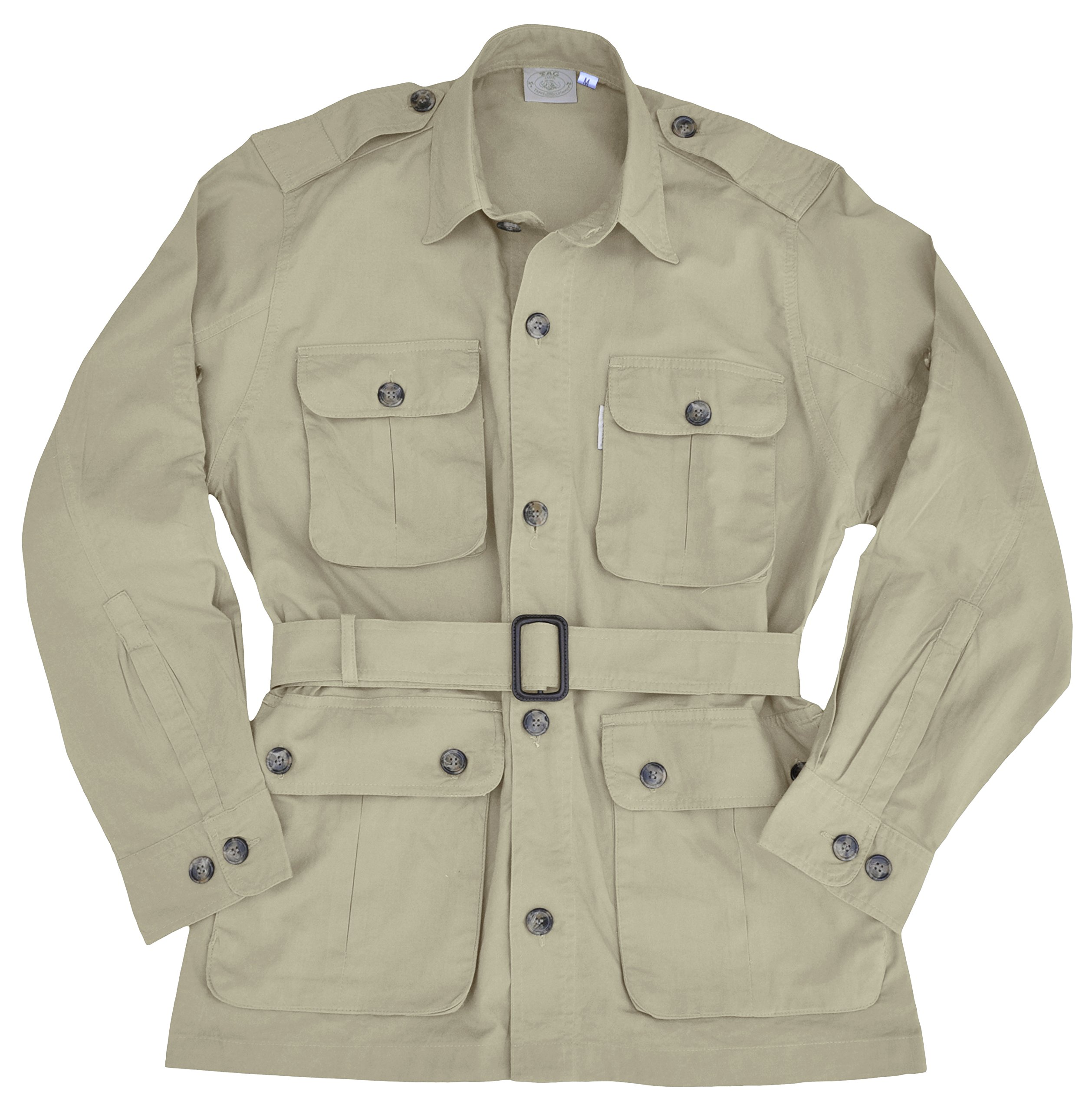 Safari Jacket for Men-Stone-X Large by Tag Safari