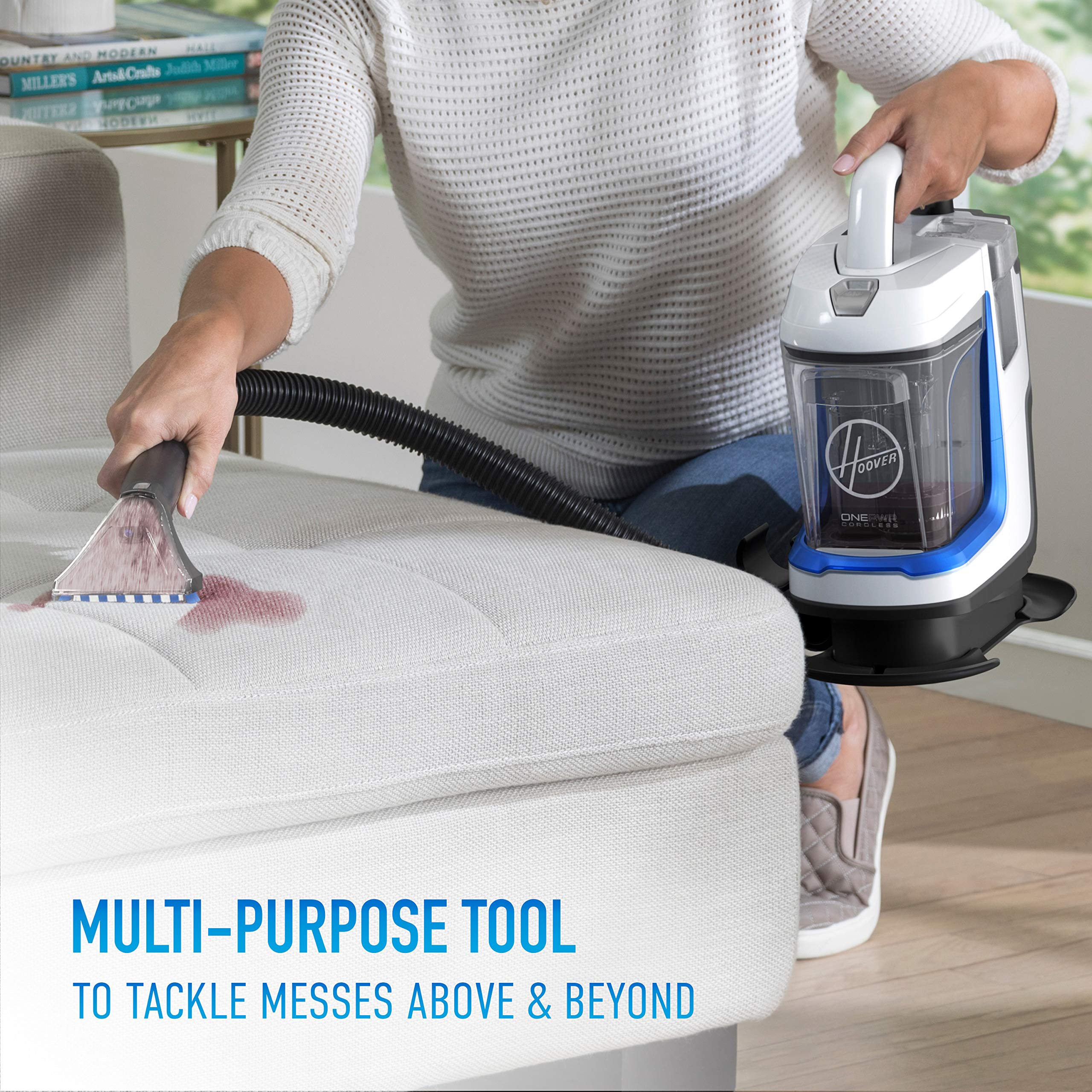 Hoover ONEPWR Spotless GO Cordless Carpet and Upholstery Cleaner, Portable, Lightweight, BH12001, White by Hoover (Image #5)
