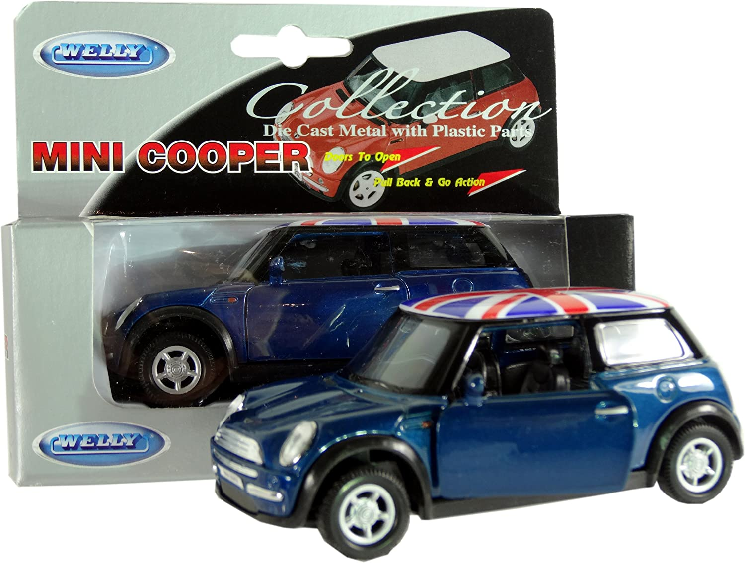 New Style Mini Cooper Model Made of Die Cast Metal and Plastic Parts, Pull Ba...