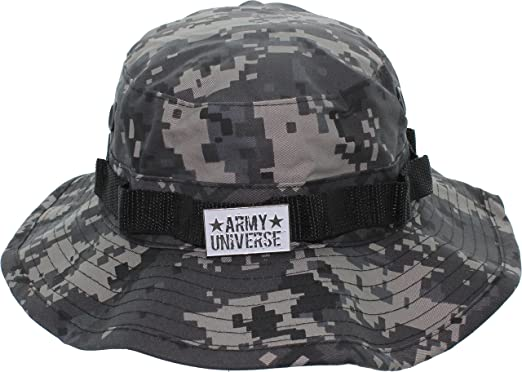 Amazon.com  Army Universe Tactical Boonie Hat Military Camo Bucket Wide  Brim Sun Fishing Bush Booney Cap with Pin  Sports   Outdoors e0145030d