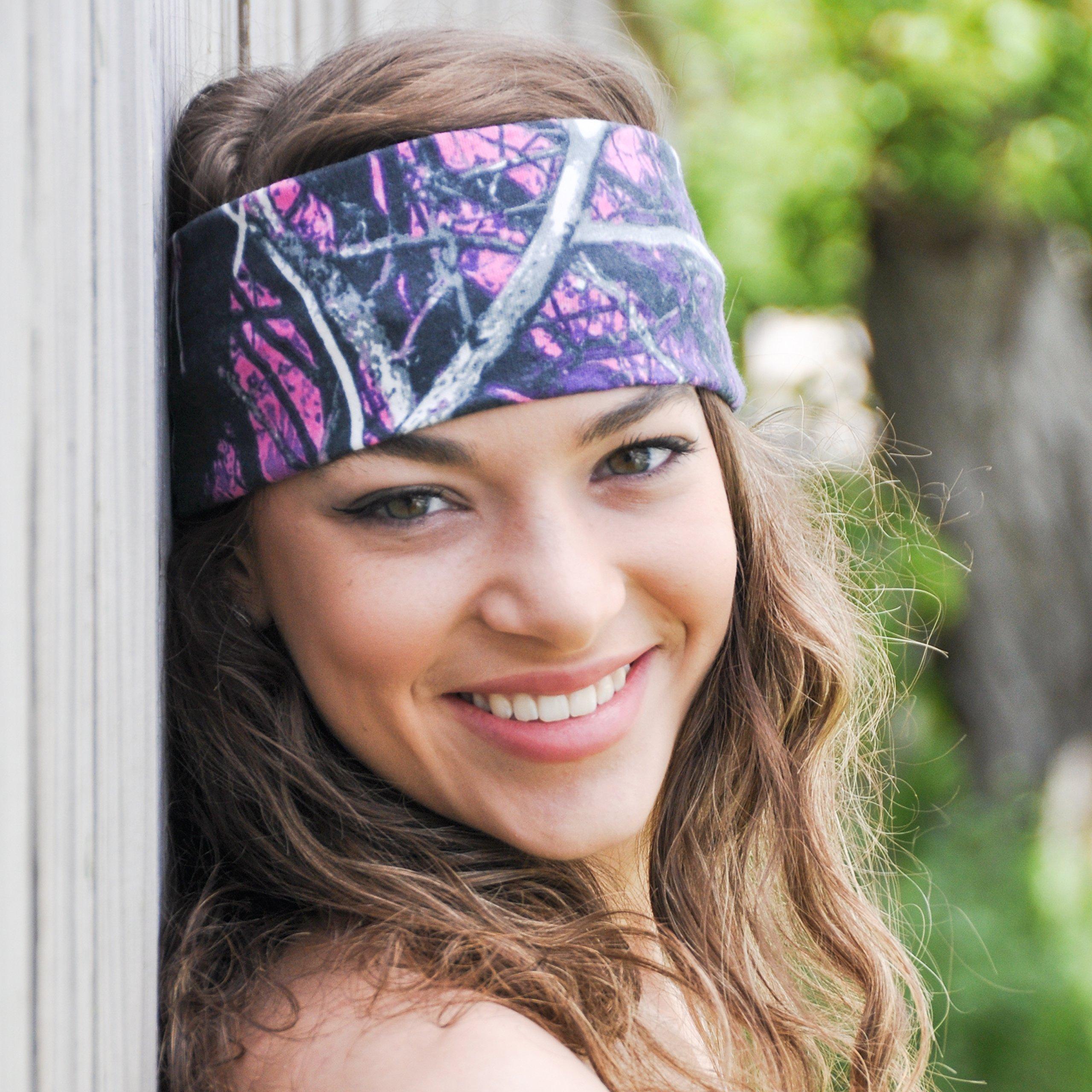 Muddy Girl Camo Fabric Headband by Reindeer Country
