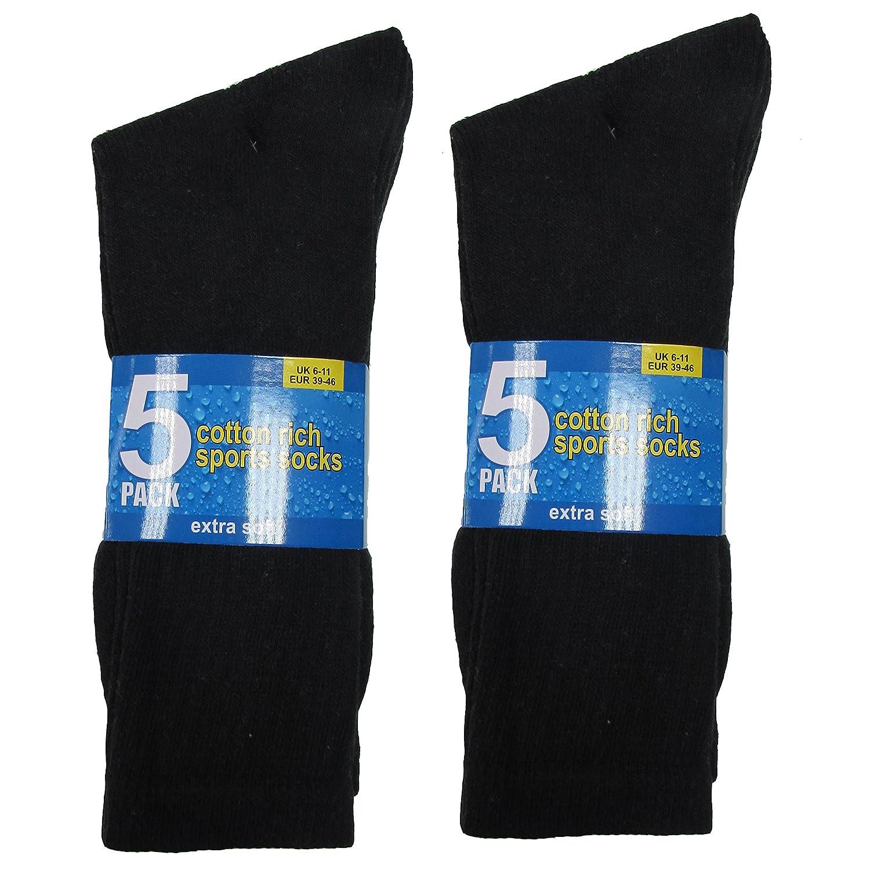 Mens White Black Grey Multibuy Sports Socks Men Multipack Athletic Cotton Rich Footware 6-11 10 24 Pairs 12