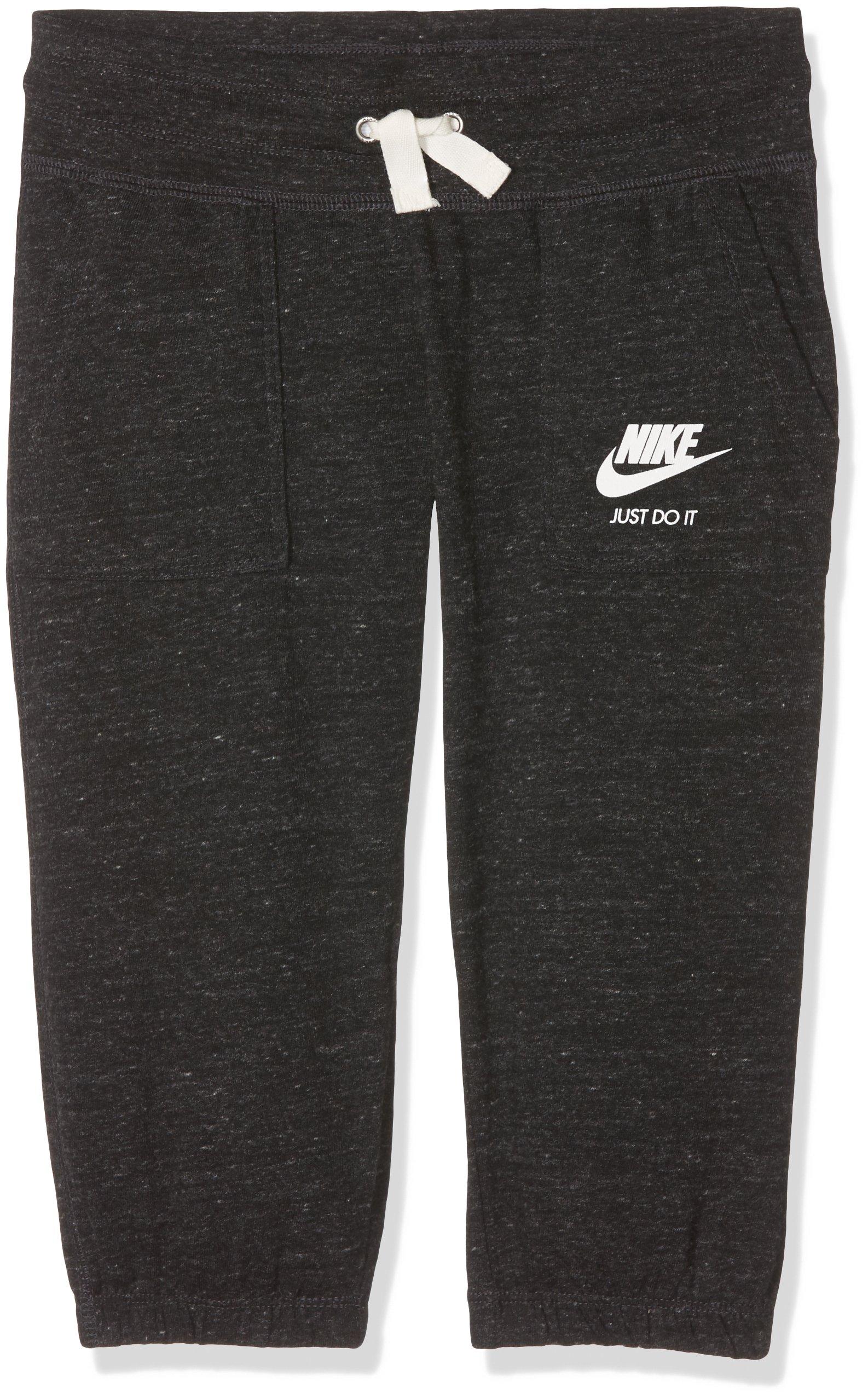Nike Sportswear Gym Vintage Big Kids' (Girls') Capris, Anthracite/Sail, Size L
