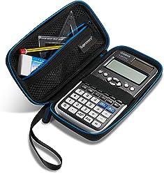 Supremery Tasche für Casio FX-991DE X - Plus/Texas Instruments Taschenrechner Schutztasche Case Hülle - Schwarz/Blau