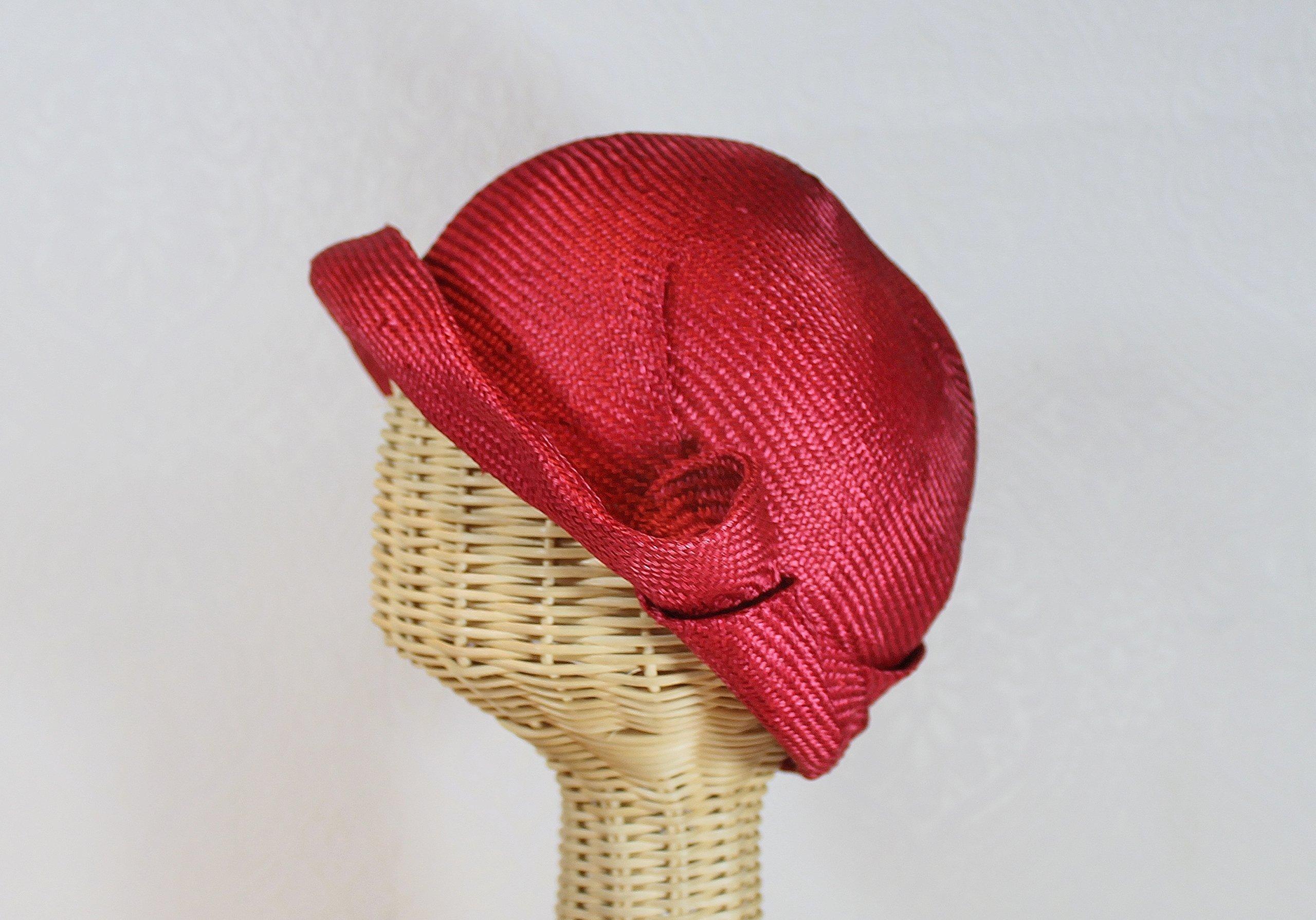 Women's Straw Miss Fisher Flapper Cloche in Red