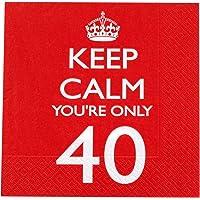 Neviti - Servilletas para 40º cumpleaños, diseño