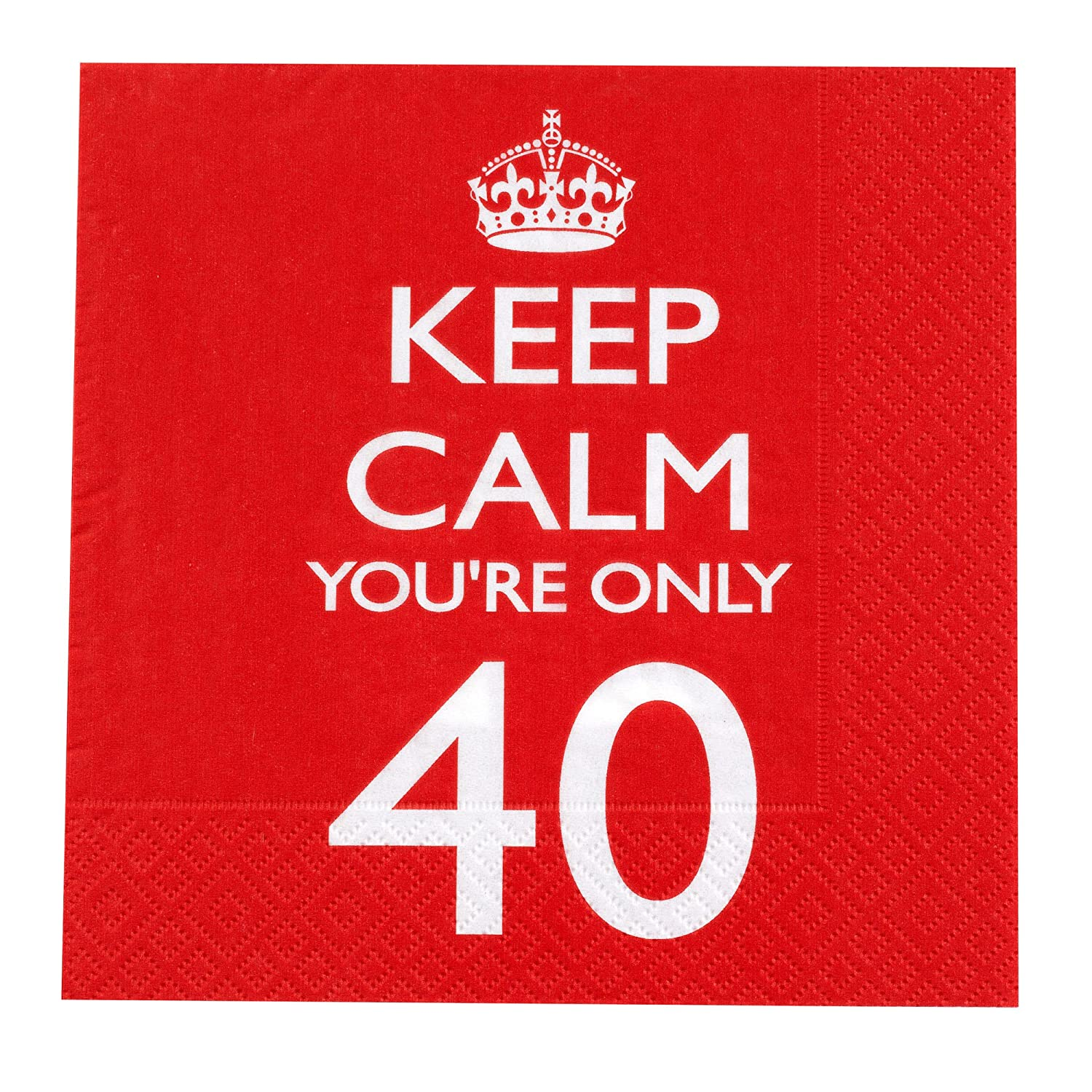 Neviti - Tovaglioli di carta Keep Calm you're only 40 597758