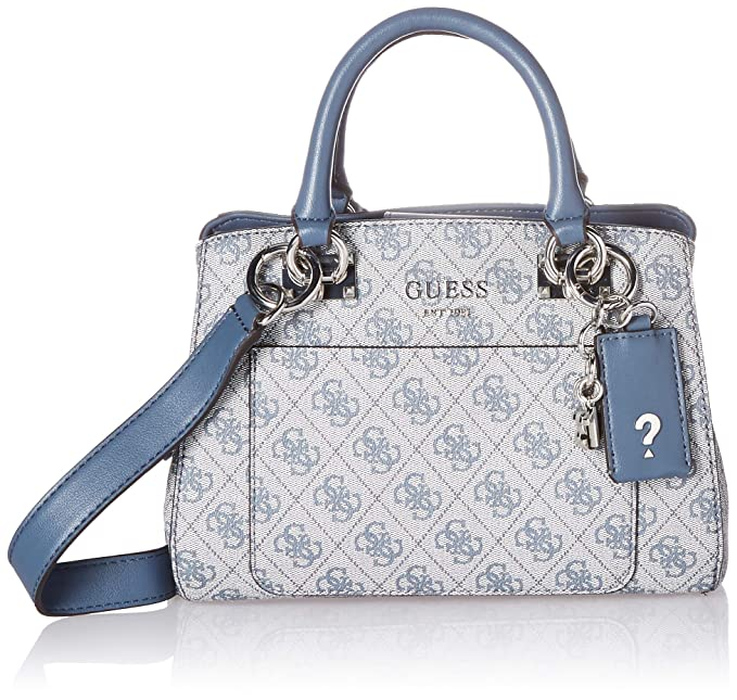 4992194ef13 GUESS Kathryn 4G Small Girlfriend Satchel, Blue, One Size: Amazon.ca ...
