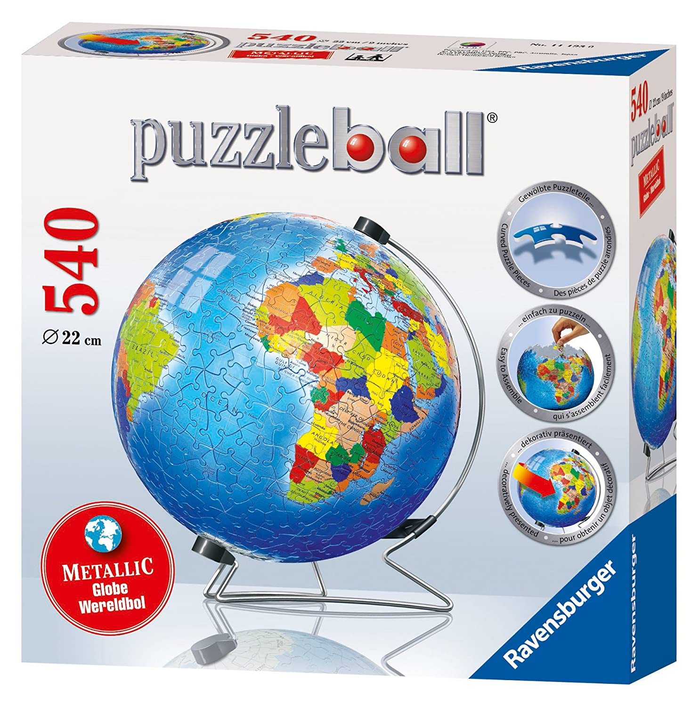Ravensburger 111930 - Metallic Globe, 540 Teile Puzzleball Spielen / Raten Puzzles - General Role Playing & Fantasy - General Crosswords Gamebooks Games Landkarten Games / Gamebooks / Crosswords