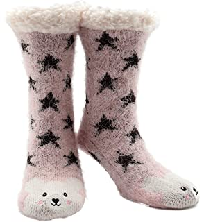 df1fa80b1 Knitted Super Soft Slipper Socks Women Girls Premium Home Socks Size 4 5 6  7 8 - Fluffy and…