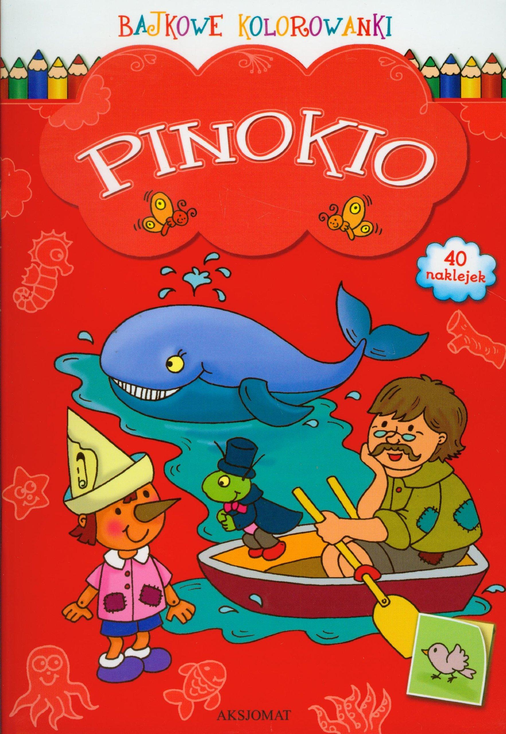 Bajkowe Kolorowanki Pinokio Ksiaĺtka Unknown 9788377130582