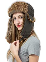 Tough Headwear Trapper Hat - Ushanka Aviator Hat for Serious Expeditions & Serious Style. Waterproof, Windproof Shell