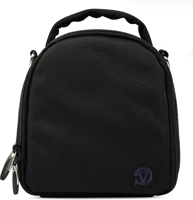 Black DSLR Camera Case SLR Bag with Soft Liner Zippered Accessory Storage for Kodak WP1 AZ651 FZ201 SP1 SPZ1 S 1 SP360