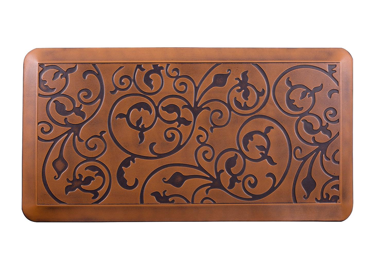 "AMCOMFY Premuim Kitchen Anti Fatigue Mat,Non Slip Comfort Floor Mats,20x39x3/4 inch Standing Desk Mats, (20""x39""x3/4"", antique light)"