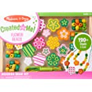 Melissa & Doug Flower Power Wooden Bead Set With 150+ Beads and 5 Cords for Jewelry-Making