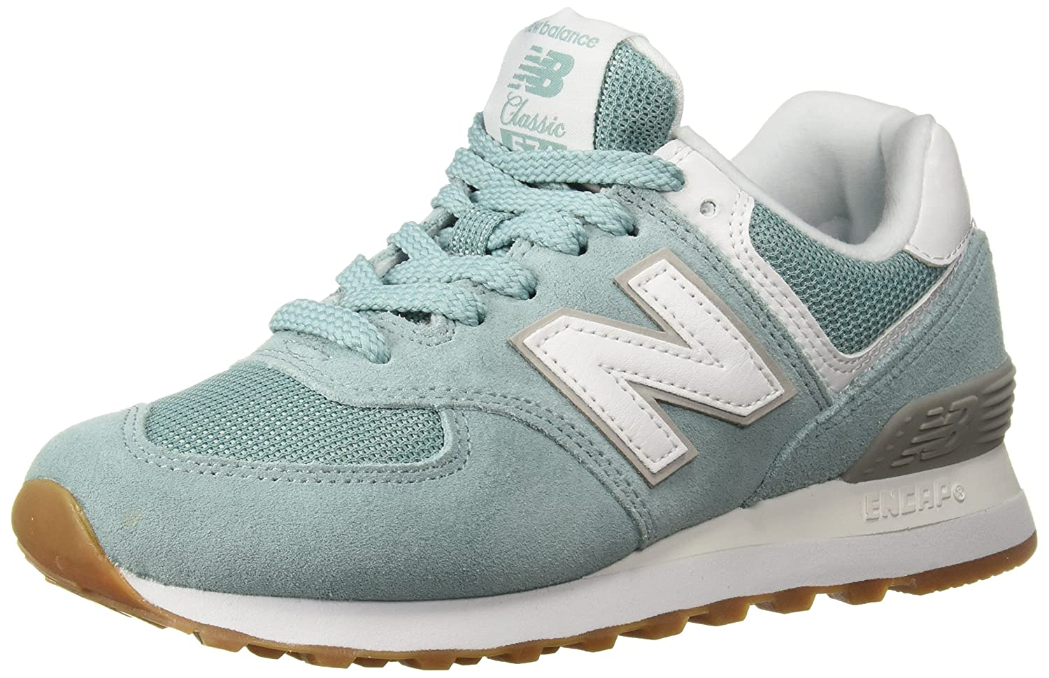 New Balance Women's 574v2 Sneaker B0751S2G2Y 6 D US|Storm Blue/White