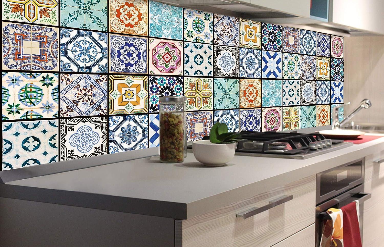 Film Autoadhesivo de Cocina Azulejos DE LA Vendimia 180 x 60 cm Decoraci/ón de Cocina