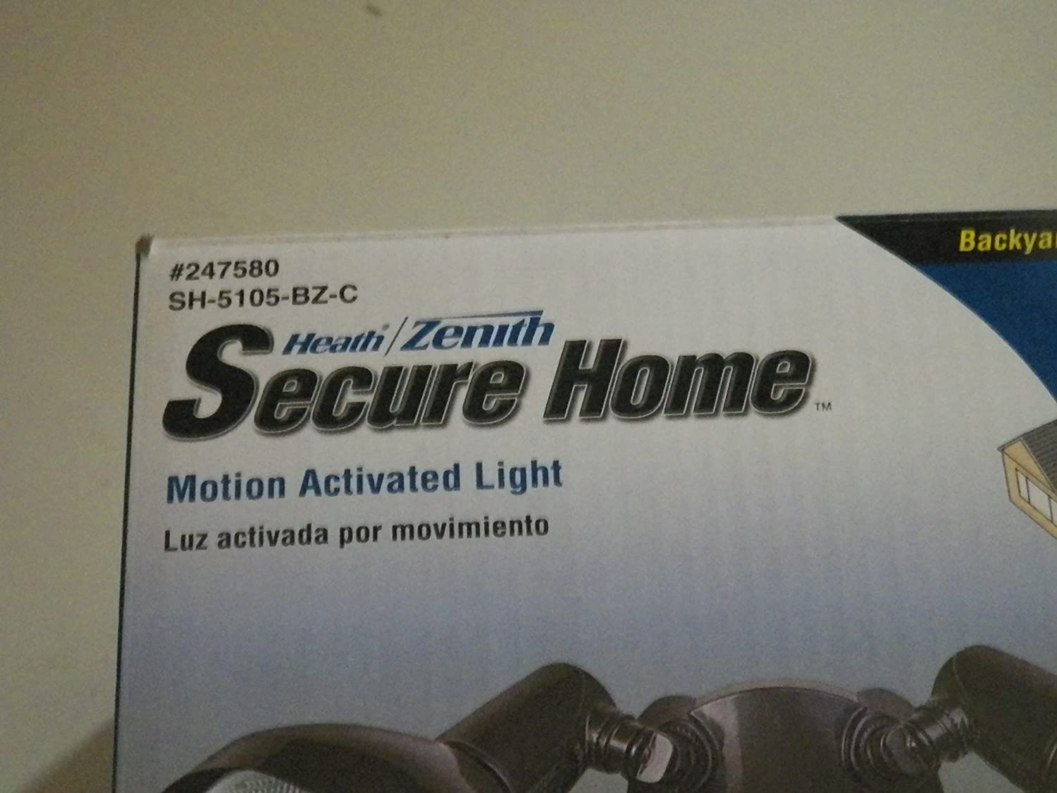 Secure Home 240-Degree 2-Head Dual Detection Zone Bronze Halogen Motion-Activated Flood Light with Timer Item#247580 Model#SH-5105-BZ UPC#016963510548 ...