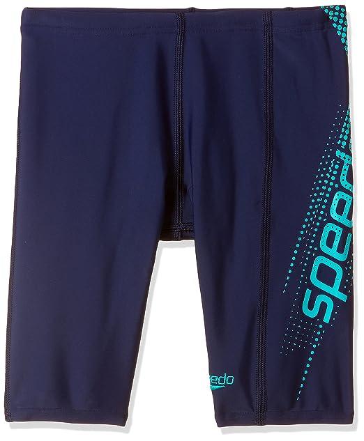 Speedo Boys Swimwear Sports Logo Panel Jammer Jammers